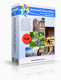 Редактор фотографий Artensoft Photo Editor главный вид