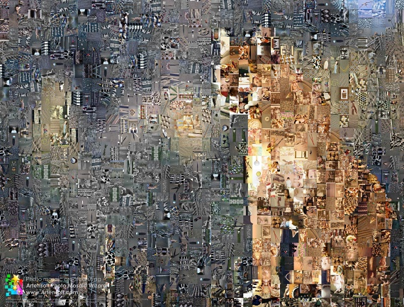 Photo mosaic (The Lion)