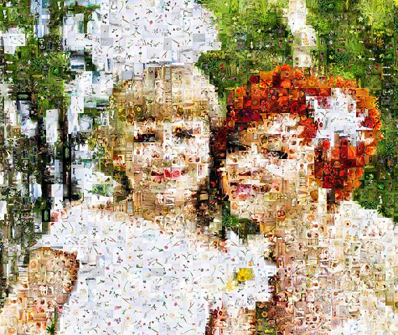 мозаичный фотоколлаж