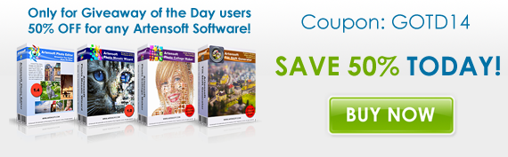 Artensoft Photo Mosaic Wizard with 500 percent discount and other programs